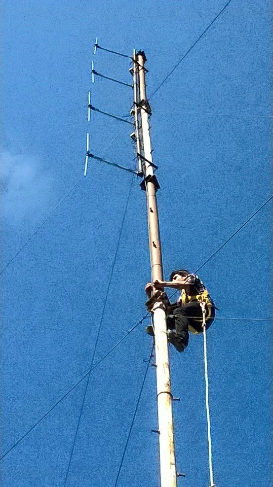 Repairing of tower